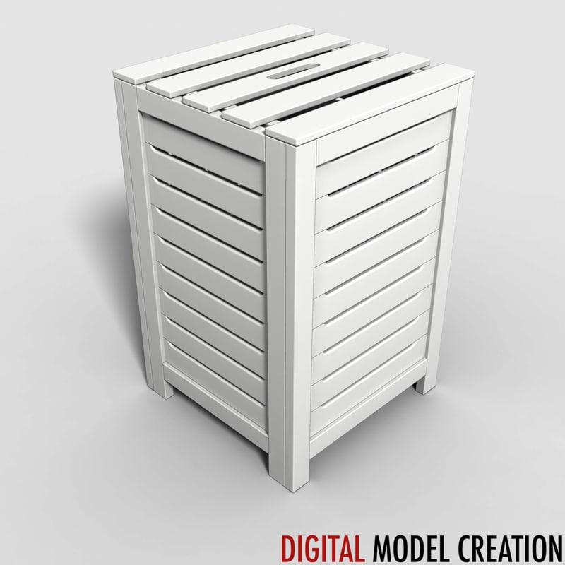 laundry box 3d obj