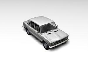 old lada-2106 3d model