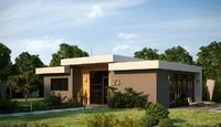 minimal house 3d model