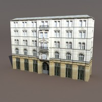 Aparment House #94 Low Poly 3d Model