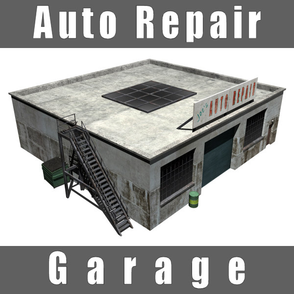 3d auto repair garage shop for Garage reparation auto