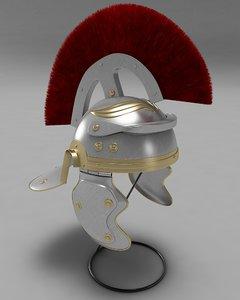 3dsmax roman helmet