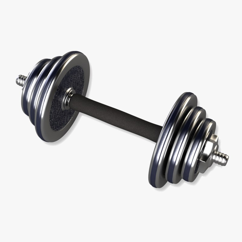 adjustable dumbbell obj