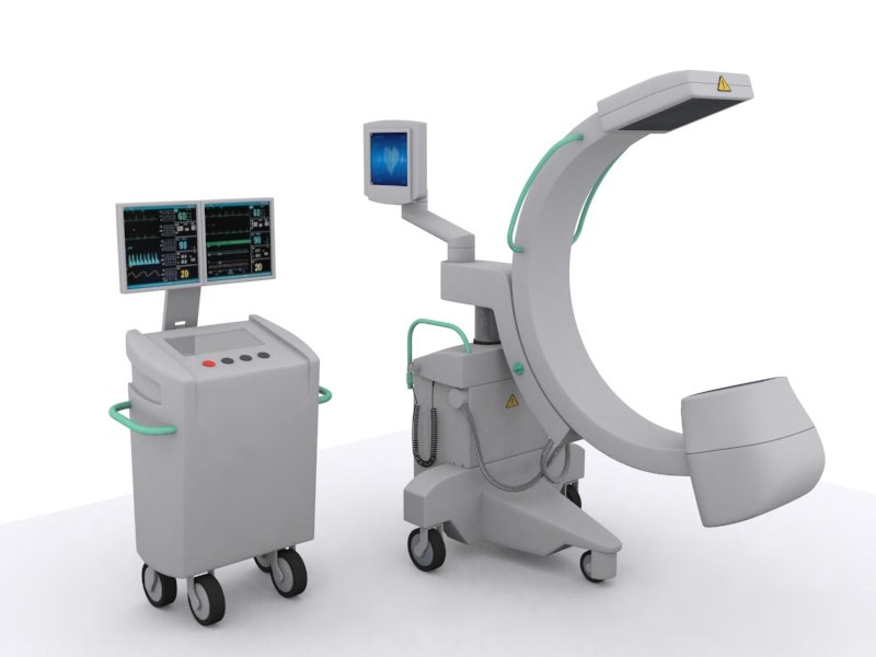 x-ray machine c medical equipment 3d 3ds