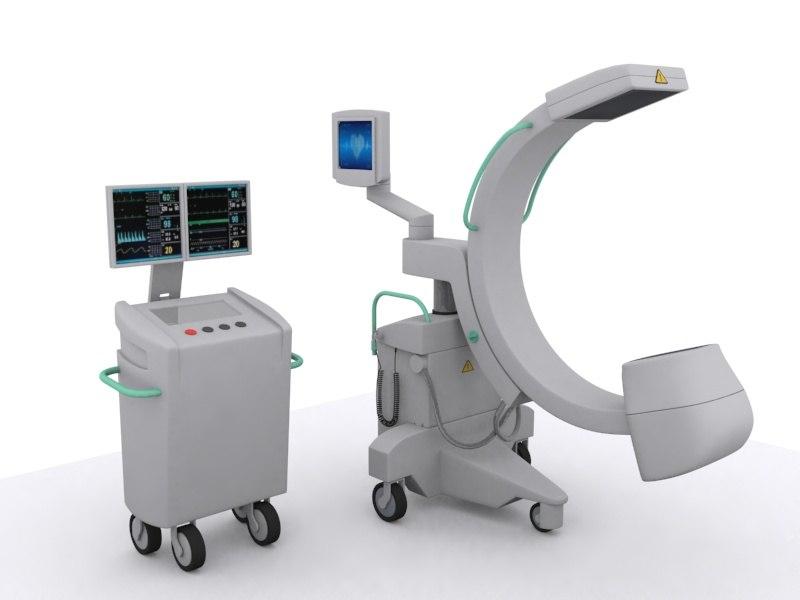 x-ray machine c medical equipment 3d 3ds