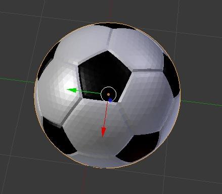 3d model football soccer ball