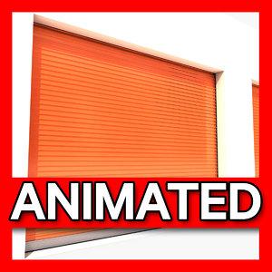 storage garage animation 3d model