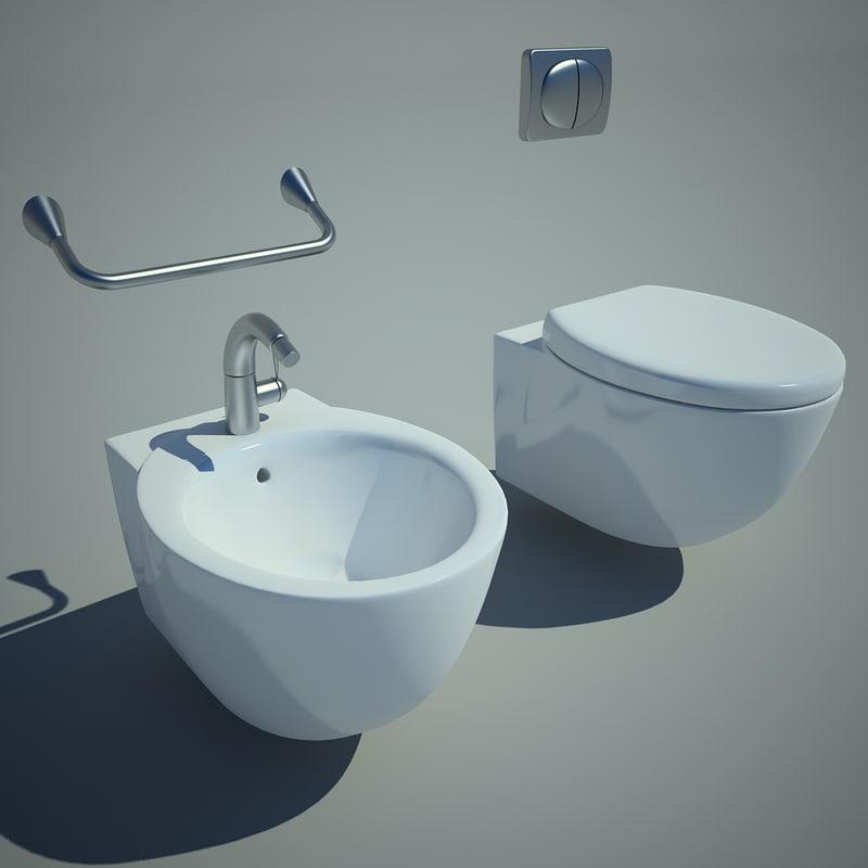 bowl bidet toilet 3d max