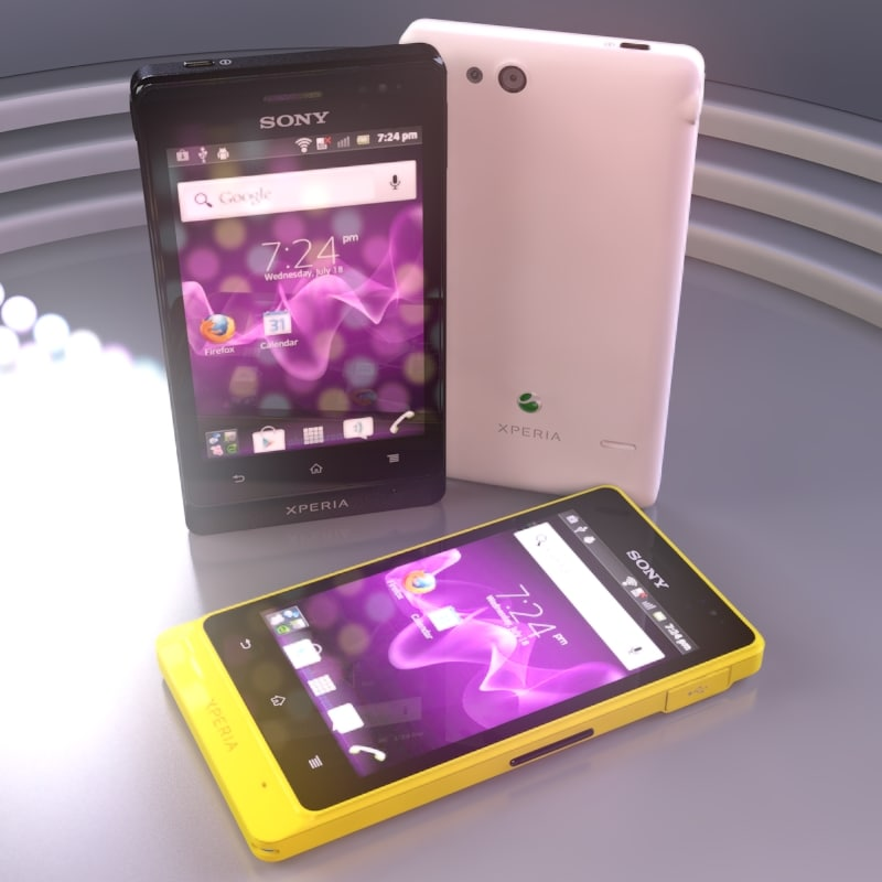 sony xperia advance cellphone 3d max