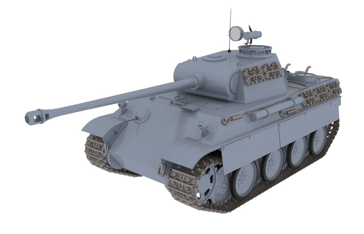 3d panther tank ausf model