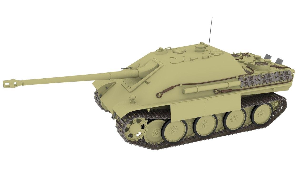 3d jagdpanther tank model