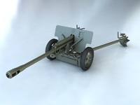 gun zis artillery 3d max