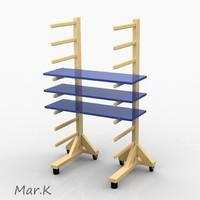 3d model carpenter stand