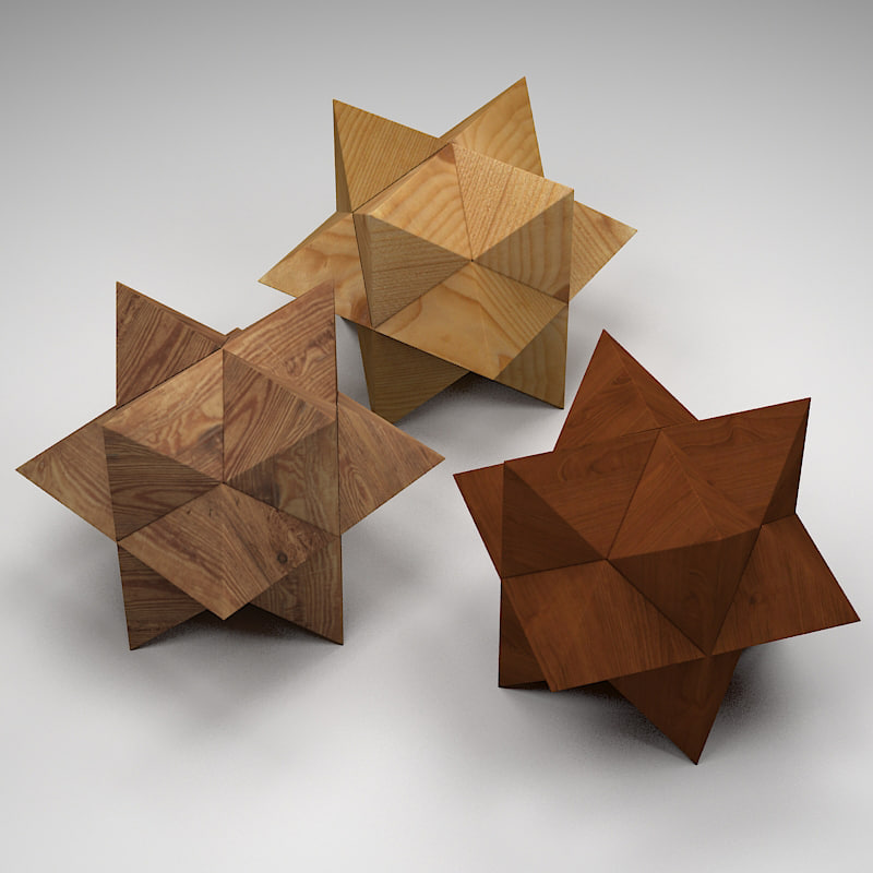 wooden star puzzle wood max