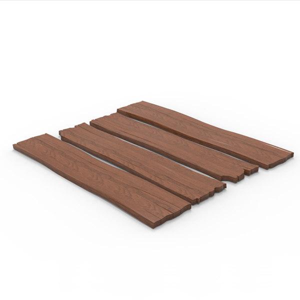3d wooden wood plank