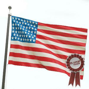 3d model flag country