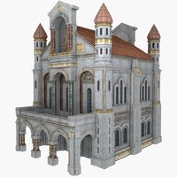 Classical White Cathedral Building
