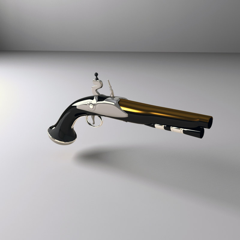 3d fbx pirate pistol