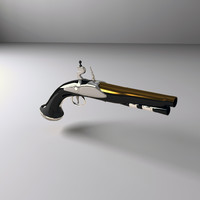 3d fbx pirate pistol