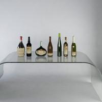 3d model wine bottles luxury champagne