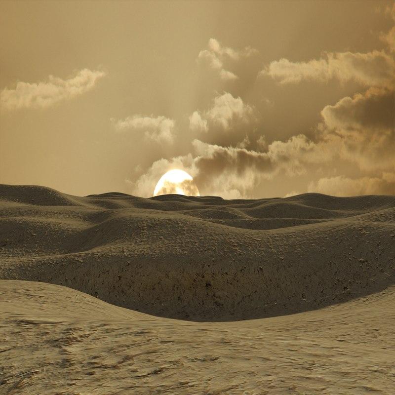 3d mars planet scene landscape terrain