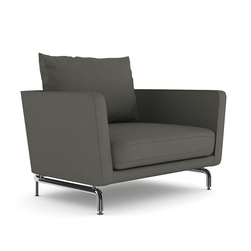 max grey armchair chair