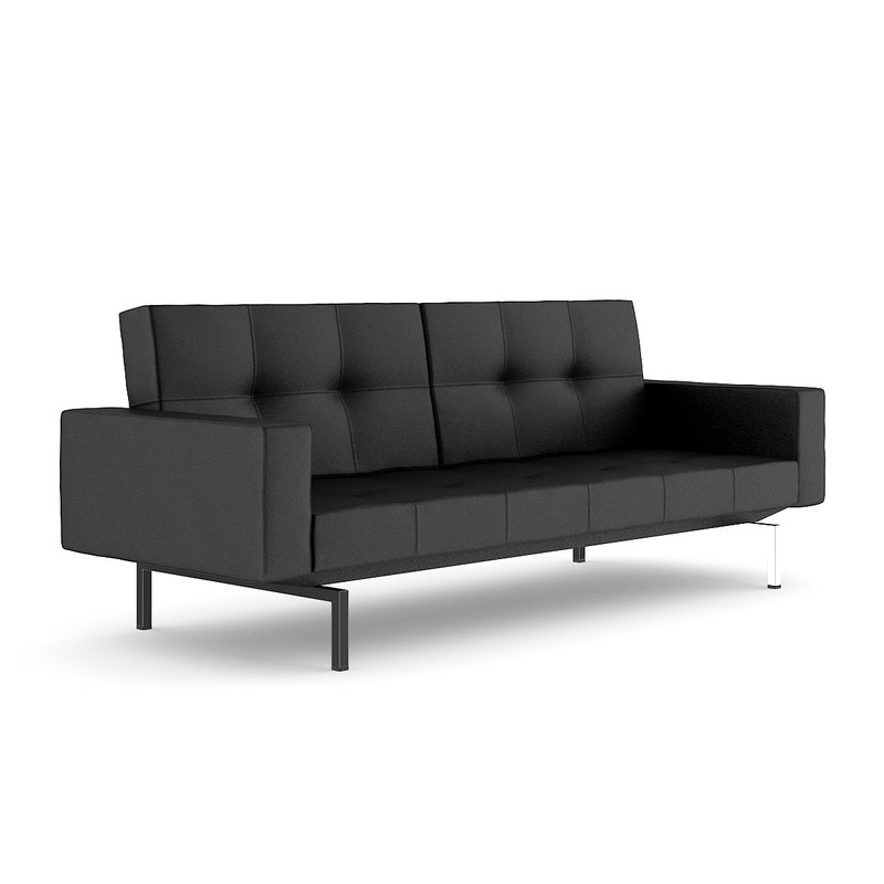 black leather sofa 3d max