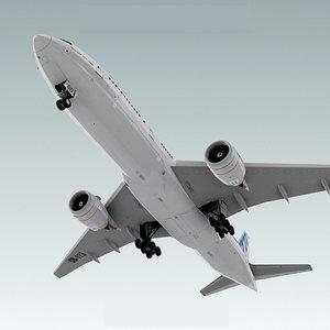 3ds boeing 777-200 plane generic
