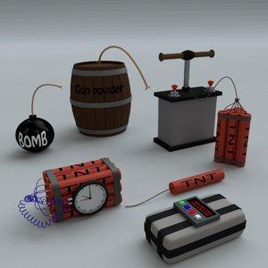 3d cartoon bombs