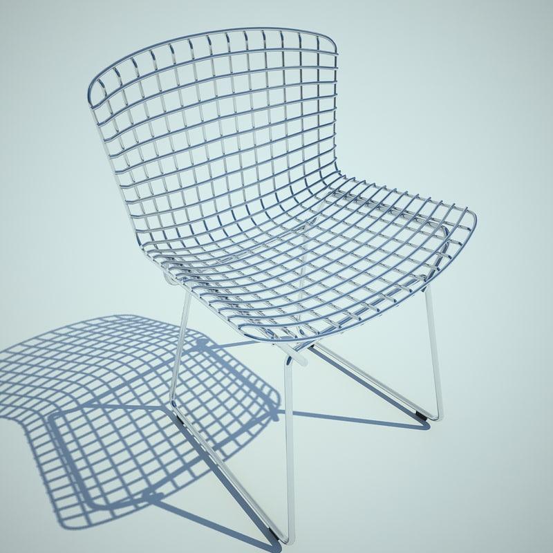3d model bertoia chair