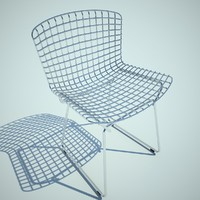 3d model bertoia chair