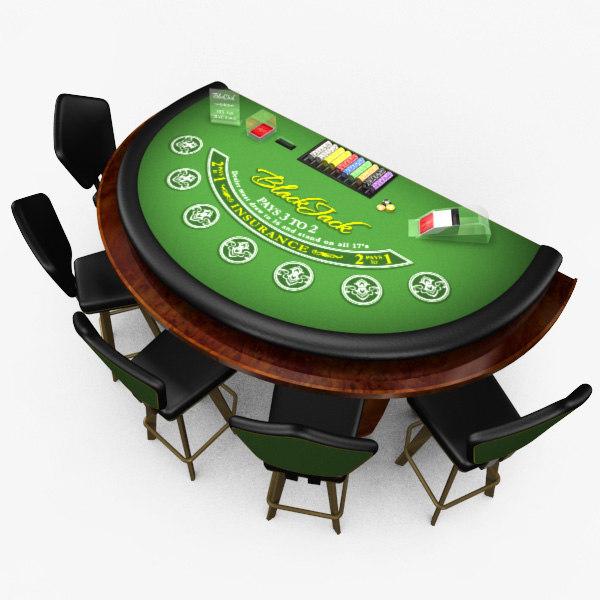 3d max casino blackjack table -