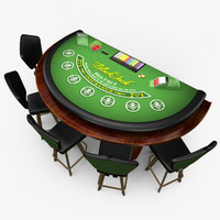 3d max casino blackjack table -
