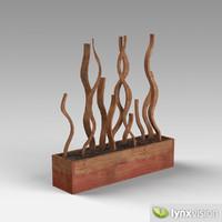 wood pot 3d model