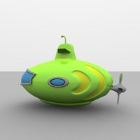 Lime Green Toy Submarine