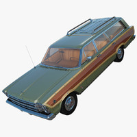 country squire 1966 3d model