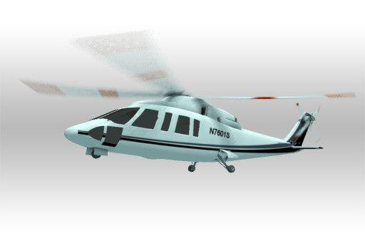 sikorsky helicopter 3d model