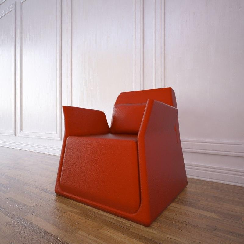 3d model pio small armchair sancal