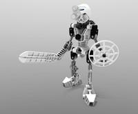 lego bionicle kopaka - 3d model