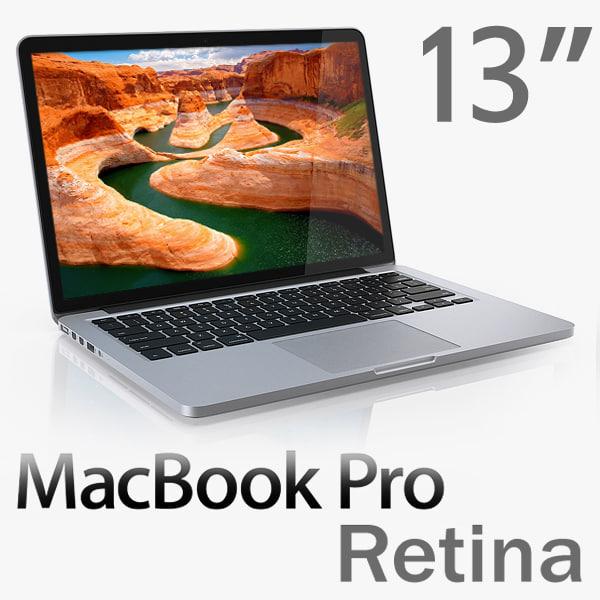 3d macbook pro retina 13-inch model