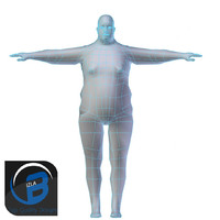 Obese Man Base Mesh LOW POLY