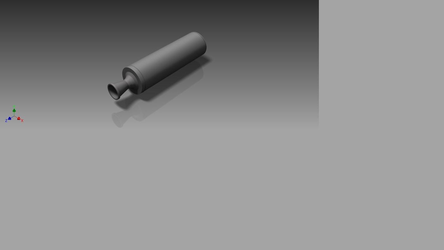 3d model sugar rocket motor