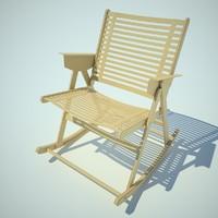 rex rocking chair 3ds