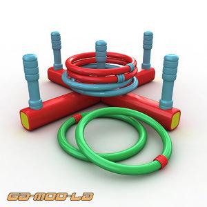 children ring toss toy 3d max