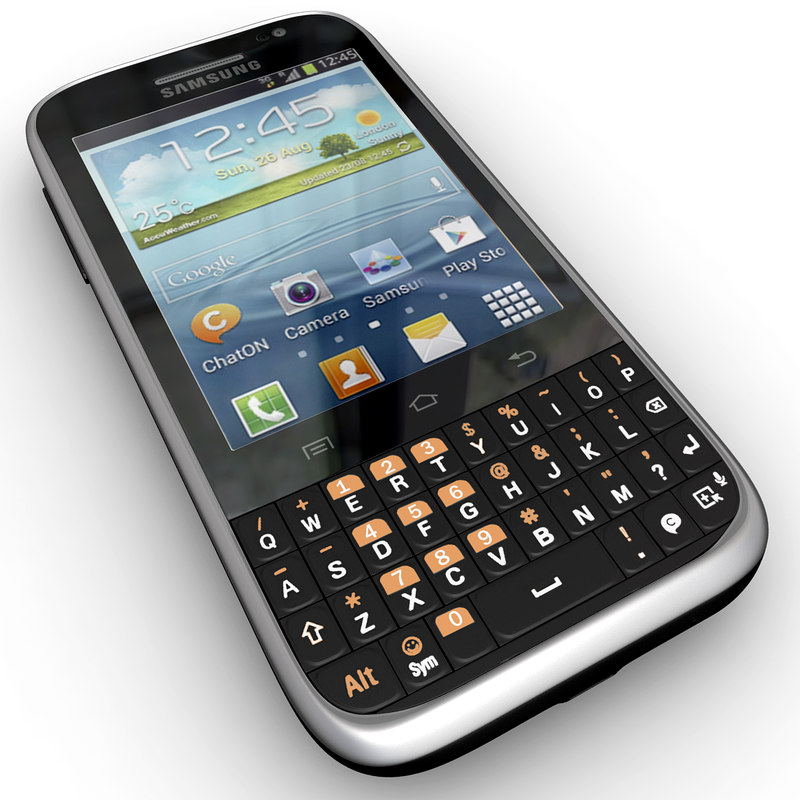 samsung galaxy chat b5330 3d model