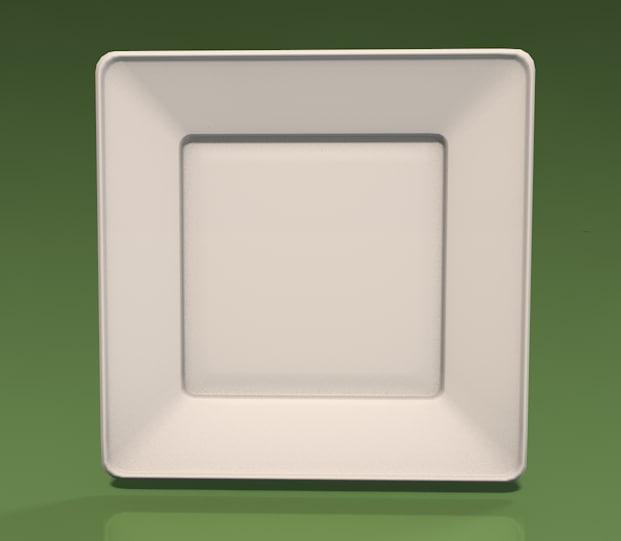 maya square plate