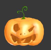 halloween pumpkin obj free