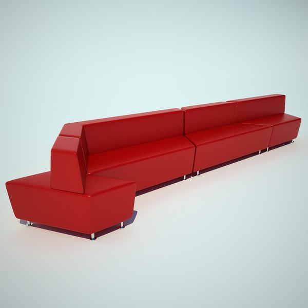 steelcase office sofa 3d model
