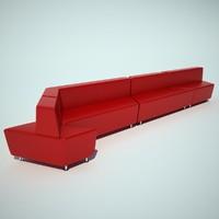 steelcase office sofa 3d model