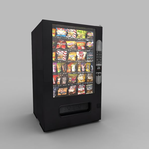 vending machine 3d obj